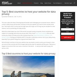 Top 5: Best countries to host your website for data privacy