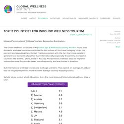Top 12 Countries for Inbound Wellness Tourism — Global Wellness Institute