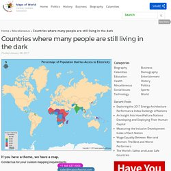 Countries where many people are still living in the dark - Our World