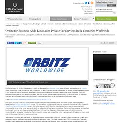 Orbitz for Business Adds Limos.com Private Car Services in 62 Countries Worldwide