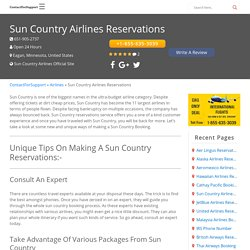Sun Country Airlines Reservations +1-855-635-3039 Booking Phone Number
