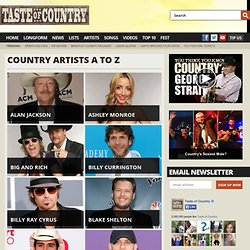 Country Artists A to Z
