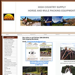 High Country Supply - Discount Horse and Mule Packing, Camping, and Hunting Equipment.
