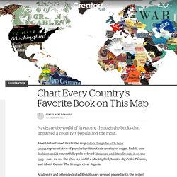 Chart every country's favourite book on this map