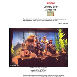 Country Bear Jamboree at Yesterland