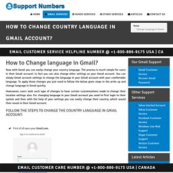 Change Country Language In Gmail Account