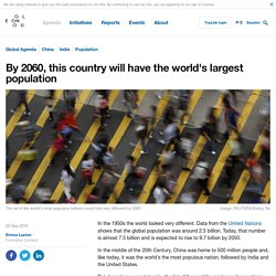 *****By 2060, this country will have the world's largest population (incl animated chart of top populations)