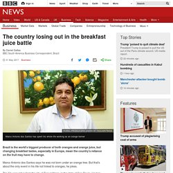 The country losing out in the breakfast juice battle