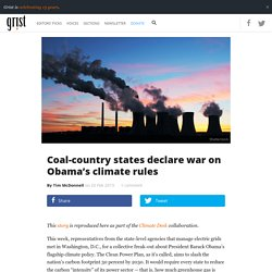 Coal-Country States Declare War on Obama's Climate Rules