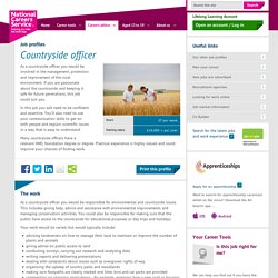Countryside officer Job Information