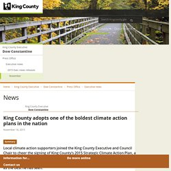 King County adopts bold climate action plan