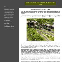 County Gate 009 locomotive fleet