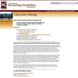 PHC: Lake County Planning and Implementation