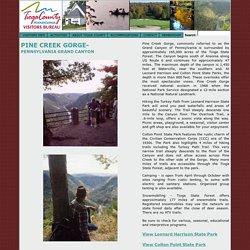 Tioga County, PA Visitors Bureau and the Grand Canyon of Pennsylvania Canyon