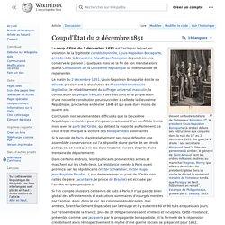 Coup d'État du 2 décembre 1851