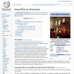 Coup d'État 18 brumaire An VIII 09/11/1799
