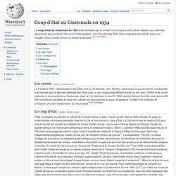Guatemala : Coup d'état, 1954