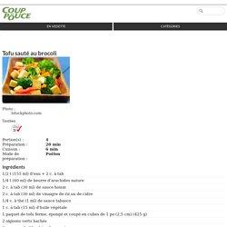 Tofu au brocoli