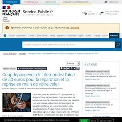 Coupdepoucevelo.fr : une aide de 50euros pour la réparation et la reprise en main de votre vélo