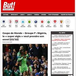"Coupe de Monde - Groupe F : Nigéria, le ""super aigle"" veut prendre son envol (23/32)"