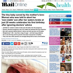 uple told to abort unborn baby son celebrate his first birthday