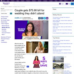 Couple gets $75.90 bill for wedding they didn't attend