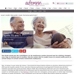 Couple : Plus heureux après 70 ans ?