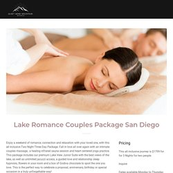 Couples Spa Hotel Getaway Los Angeles and San Diego