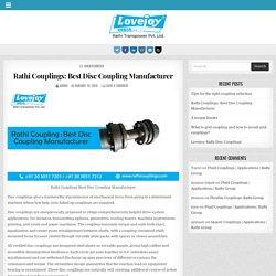 Rathi Couplings: Best Disc Coupling Manufacturer - Rathi Couplings Blog
