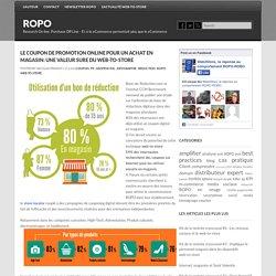 Le coupon de promotion Online pour un achat en magasin: une valeur sure du web-to-store