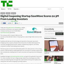 Digital Couponing Startup SaveWave Scores $2.3M From Leading Investors