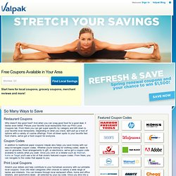 Free Coupons, Food Coupons and Restaurant Coupons Online | Valpak.com