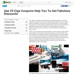 Use V2 Cigs Coupons Help You To Get Fabulous Discounts