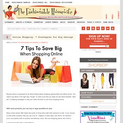 Coupons & Samples :The Fashionable Housewife