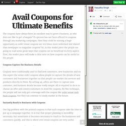 Avail Coupons for Ultimate Benefits