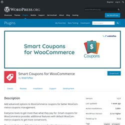 Smart Coupons for WooCommerce – WordPress plugin