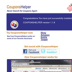 Welcome to the coupons notifications and applying tool