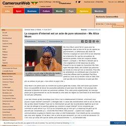 La coupure d'internet est un acte de pure sécession - Me Alice Nkom