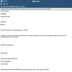 Cour d'appel d'Angers, 7 mai 2013, 11/02140