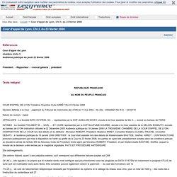 Cour d'appel de Lyon, CIV.3, du 23 février 2006