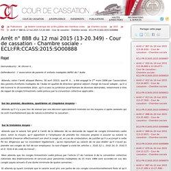 Cour de cassation - Publication - Chambre sociale