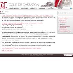 Bulletin numérique des arrêts publiés des chambres civiles