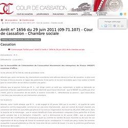 29-06-2011 Durée du travail - Cour de cassation