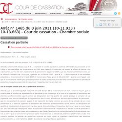 6 la repr sentation des salari s pearltrees - Chambre sociale de la cour de cassation ...
