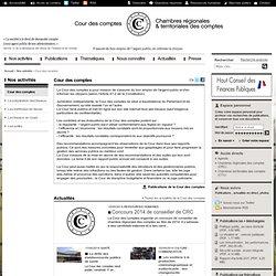 Cour des comptes / Nos activités
