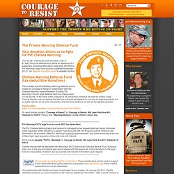 Courage to Resist - Bradley Manning