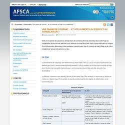 AFSCA 18/01/16 Une panne de courant… et vos aliments au frigo et au congélateur ?