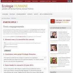 Entrez dans le courant de l'Ecologie Humaine