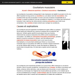 Courbatures musculaires