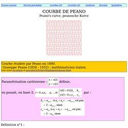 Courbe de Peano